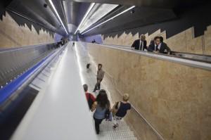 Beautiful designs at Toledo underground station