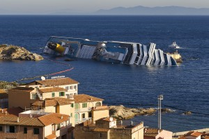 Costa Concordia accident  on the rock of Giglio Island