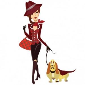 donna-che-cammina-illustrazione-vettoriale-cane_25-20896