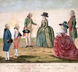 Lincontro-fra-Giuseppe-II-e-Caterina-la-Grande-Johann-Hieronymus-Löschenkohl1787